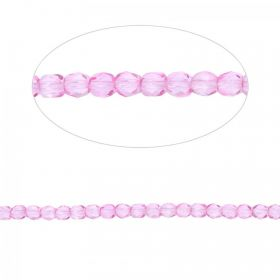Preciosa Czech Fire Polished Beads 4mm Fuchsia Pk100