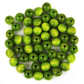 Preciosa Wood Beads 12mm Green Pk50