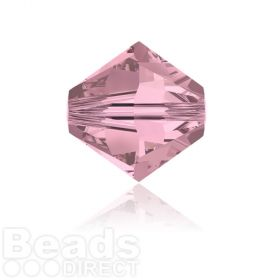 5328 Swarovski Crystal Bicones 6mm Crystal Antique Pink Pk360