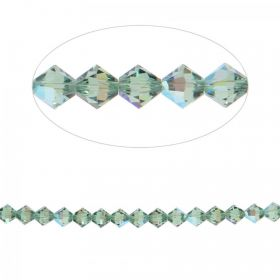 5328 Swarovski Crystal Bicone Beads 4mm Erinite Shimmer Pk24