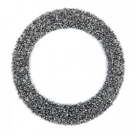 Swarovski Crystal Letter 'O' Self-Adhesive Fabric-It Black CAL Pk1