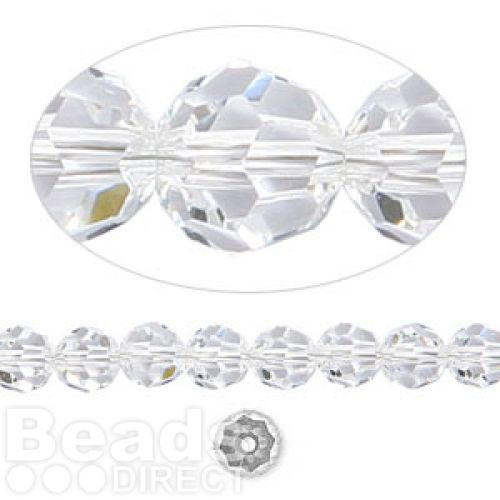 5000 Swarovski Crystal Faceted Rounds 6mm Clear Pk12