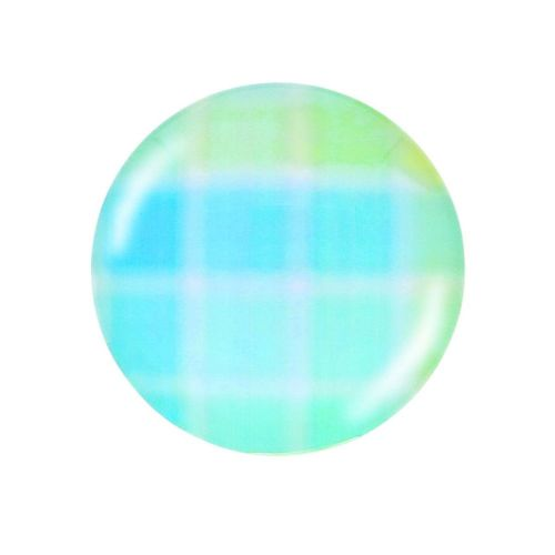 Glass cabochon with graphics K20 PT1257 / turquoise / 20mm / 2pcs