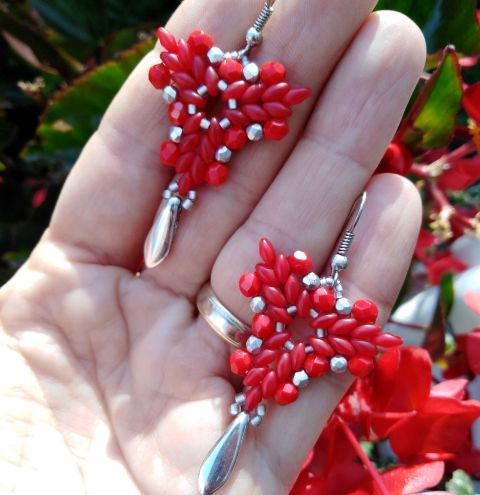 How to make SuperDuo earrings – a jewellery making tutorial