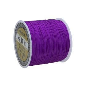 Macramé™ / Macramé cord / nylon / 0.8mm / dark purple / 100m