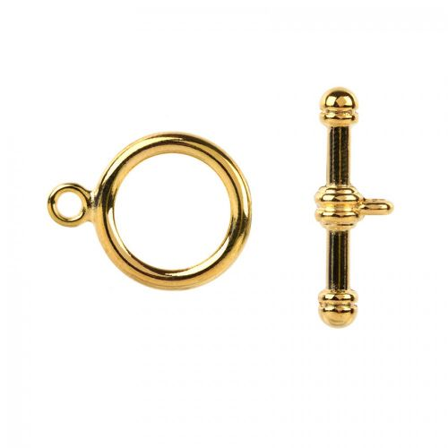 Gold Plated Large Toggle Clasp 17x26mm x1 Set