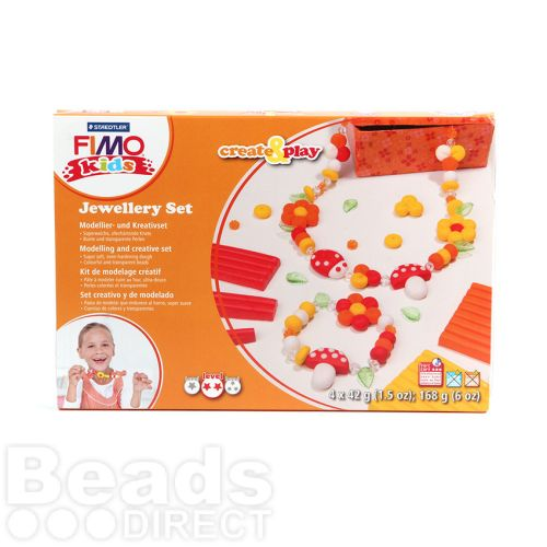 X Staedtler Fimo Kids Create and Play Flower Jewellery Set 4x42g