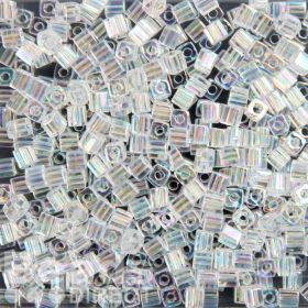Miyuki Cube Beads 4mm Transparent Rainbow Clear 10g