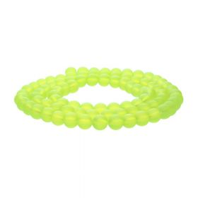Frozen ™ / round / 8mm / lemon / 105pcs