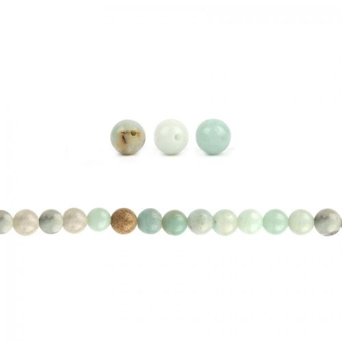 Amazonite Semi Precious Rounds 4mm Pk20
