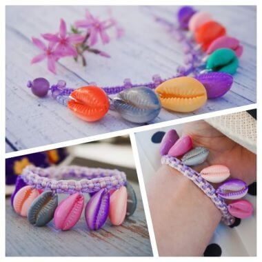 How to make a Bracelet with cowry shells