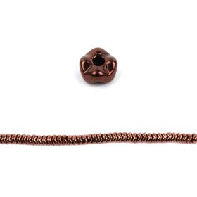 Jet Bronze Czech Glass Snake Bead 6mm Pk40