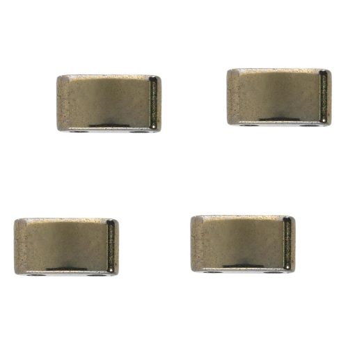 Hematite / natural stone / rectangle with 2 holes / 3x5x2mm / bronze / hole 0.6mm / 16pcs