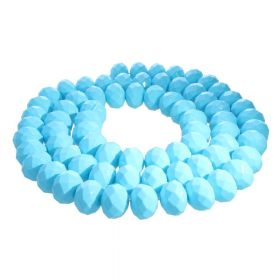 Milly™ / rondelle / 6x8mm / turquoise / 70pcs