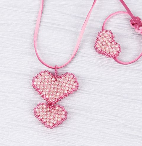 Shimmer Heart Jewellery Set