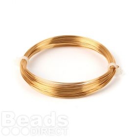 Gold Coloured Copper Wire 0.6mm 10metre Coil