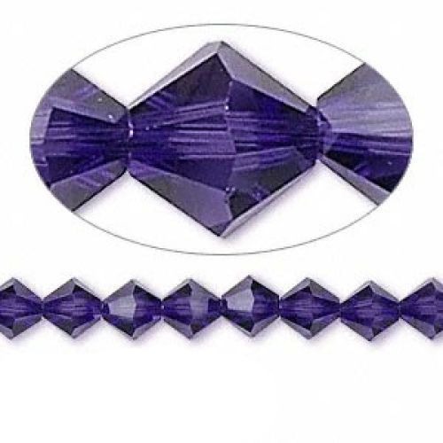 170de08e6 5328 Swarovski Crystal Bicones Xillion 4mm Purple Velvet Pk24 ...