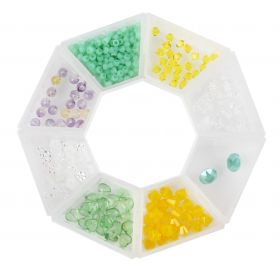 Beads Direct 'Spring' Bead and Crystal Selection with Storage Ring
