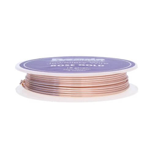 Rose Gold Colour Copper Craft Wire 18 Gauge (1mm) 4 Metre Reel