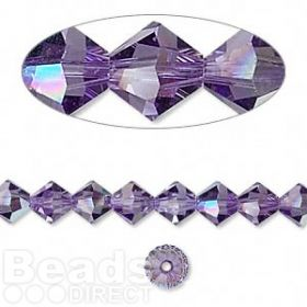 5328 Swarovski Crystal Bicones Xillion 6mm Tanzanite AB Pk24