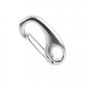 Silver Plated Oval Carabiner Clasp 12x25mm Pk1