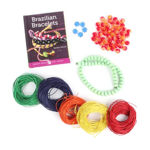 Limited Edition Brazilian Bracelet Book and Material Bundle with Free Book