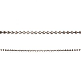 Gunmetal Brass 2mm Ball Chain 1 Metre length with 2 Clasp