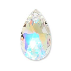 6106 Swarovski Drop Pendant 28mm Crystal AB Pk1