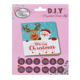 Beads Direct 'Santa and Reindeer' Crystal Card Kit
