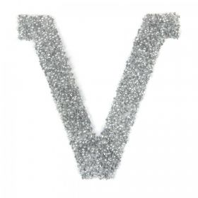Swarovski Crystal Letter 'V' Self-Adhesive Fabric-It Transparent CAL Pk1