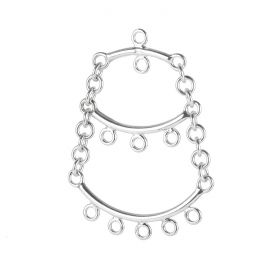 Sterling Silver 925 Charm 3 Tier Dangle Base with Loops Pk1