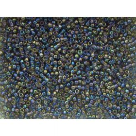 TOHO ™ / Round 15/0 / Transparent-Rainbow / Grey / 10g / ~ 1400pcs