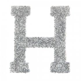 Swarovski Crystal Letter 'H' Self-Adhesive Fabric-It Transparent CAL Pk1