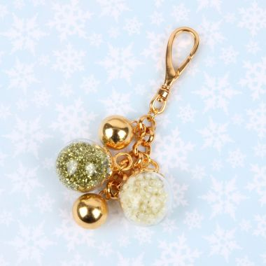 Golden Bauble Handbag Charm