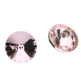 Bonny™ / crystal glass / rivoli / 6mm / Light Rose / 16pcs