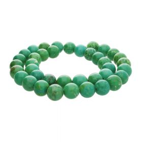 Turquoise / round / 10mm / green / 36pcs