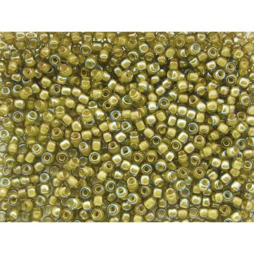 TOHO™ / Round 11/0 / Inside colour Luster / Black Diamond / Yellow / 10g / ~ 1100pcs