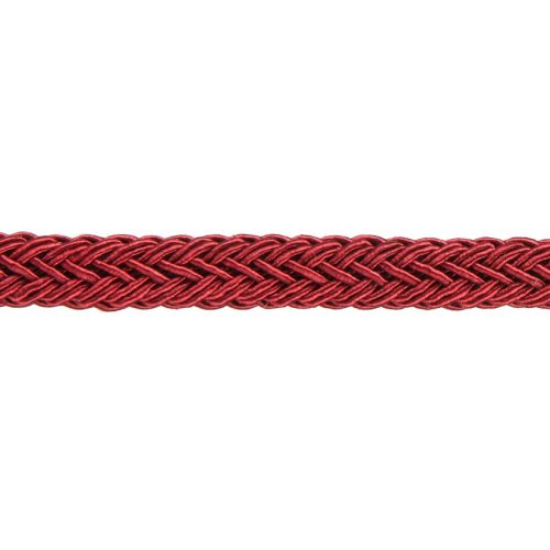 X-Bordeaux Polyester Braided Chunky Cord 8x10mm 1 Metre