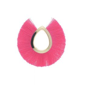 Tassel / viscose thread / large drop / 65mm / bright pink / 1pcs