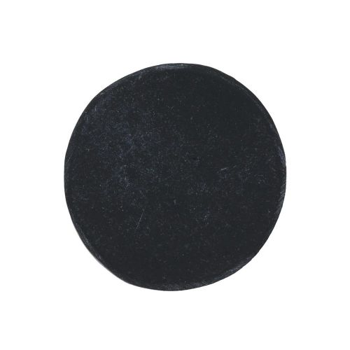 Cameo / cabochon / round / 25x25mm / black-grey / 4pcs
