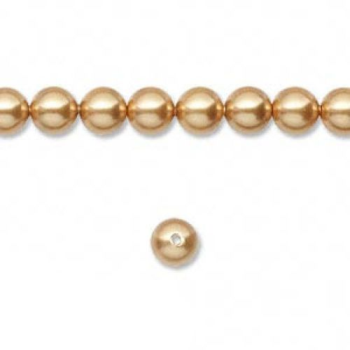 5810 Swarovski Glass Pearls 6mm Bright Gold Pk50