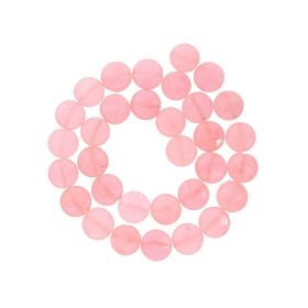 Agate / faceted disk / 12x12mm / salmon / 30pcs