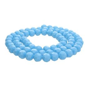 CrystaLove™ crystals / glass  / faceted round / 4mm / blue / lustered  / 100pcs