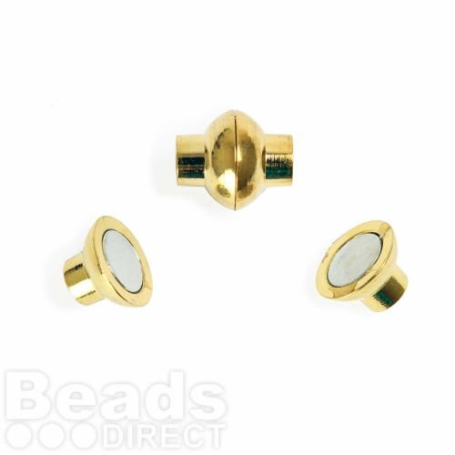 Gold Plated 4mm Magnetic Clasp Pk1