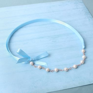 Ribbon & Pearl Necklace
