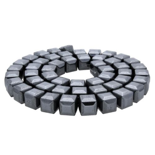 Hematite / faceted cube / 6x6x6mm / classic black / 68pcs
