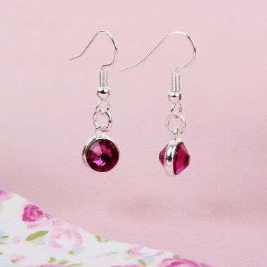 Crystal Fuchsia Earrings
