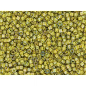 TOHO™ / Round / 15/0 / Inside-Color Luster / Black Diamond Yellow / 10g / ~1400pcs