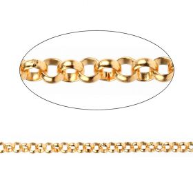 Gold Plated Sterling Silver 925 Belcher Chain 2mm Sold Per Inch