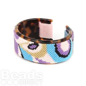 Beads Direct Purple Rain Toho Aiko Tortoise Cuff Kit